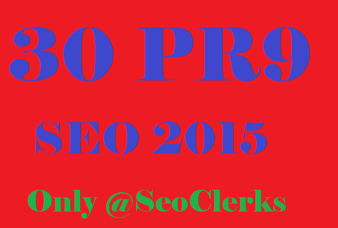 Create 30 PR9 SEO Safe High Pr Backlinks