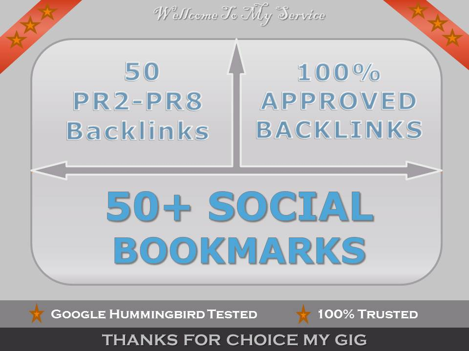 I will do 50 Blog Comments PR2 to PR8 manually and 50 Social Bookmarks FREE