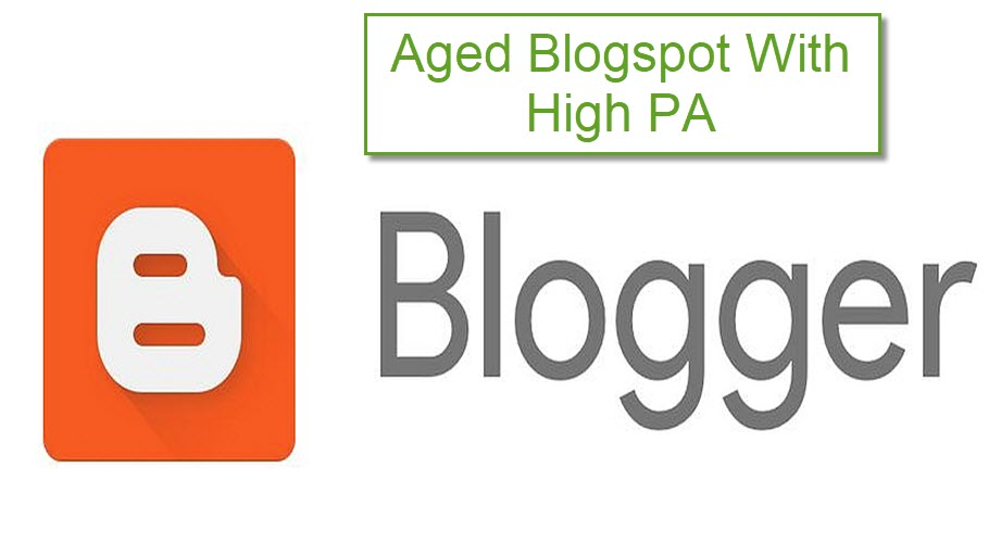 Aged Blogspot Blog With High PA