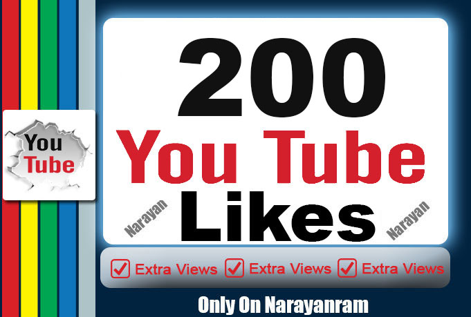 200 TO 300 Quality YouTube Likes Super Instant