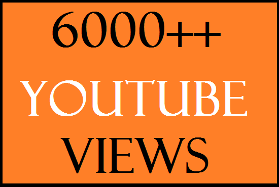 6,000+ Super Fast High Quality  Retention - 1-2 Minutes Life Time Guarantee you - tube view and 300 lik-es