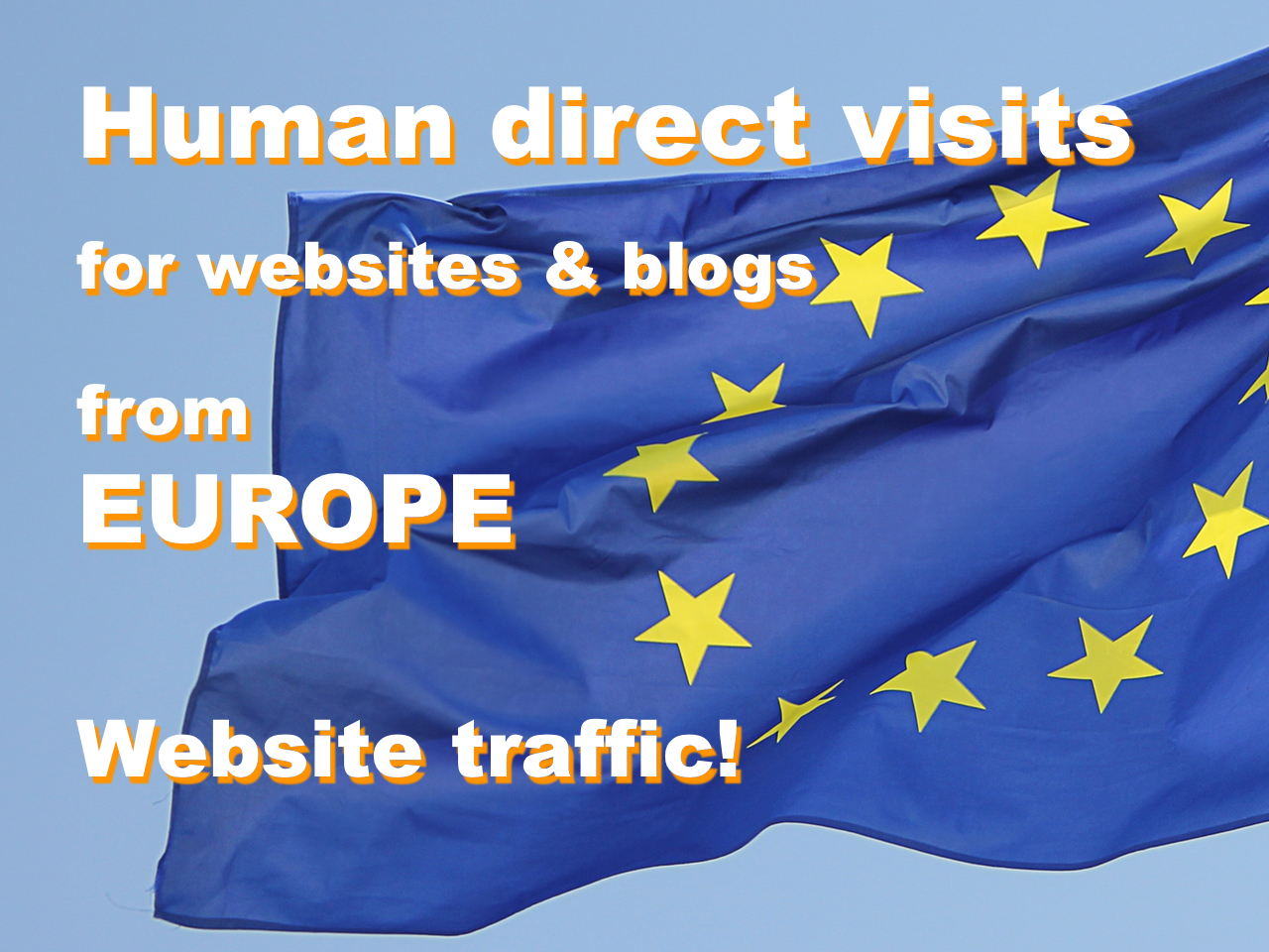 Traffic from Europe, human direct visits