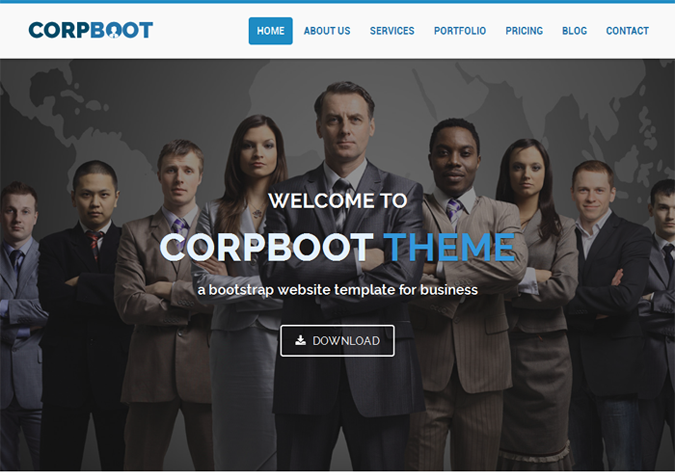 Corpboot Corporate Website Template Theme