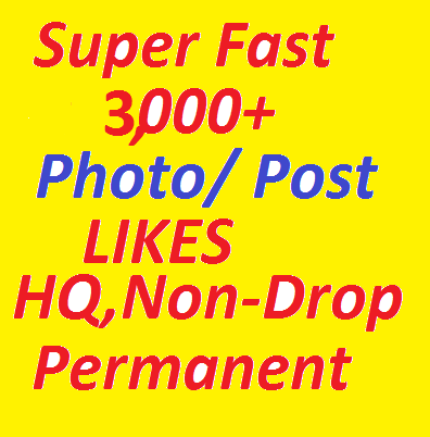 Instantly Start 3,000 HQ,  Non-Drop promotion Service for Your Post OR Photos OR videos