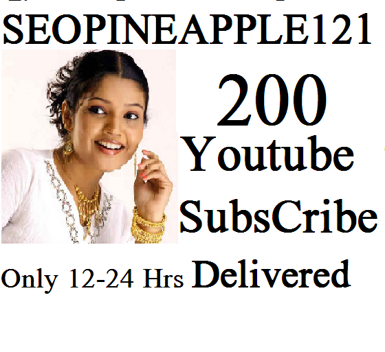 200+Youtube Subscribers  Non Drop Lifetime Guaranteed