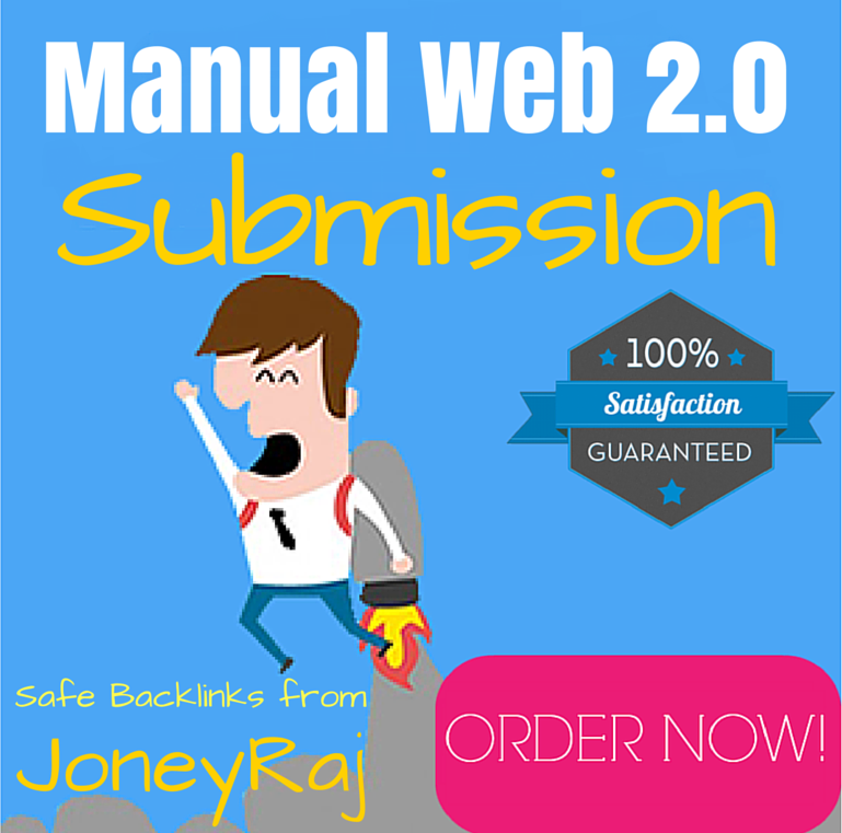 I will offer 20 Authority Web 2.0 Blog with image,Manual SEO Backlinks