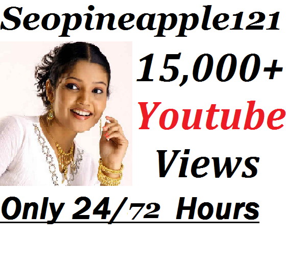 15000-15500 YouTube Vie-ws + 100 Extra Bonus YouTube Liks 24/72 Hours Delivery Time