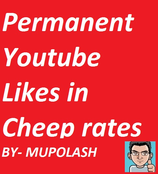 Permaneent 200+ Llkes your YT videos  from real account in very Cheep rates