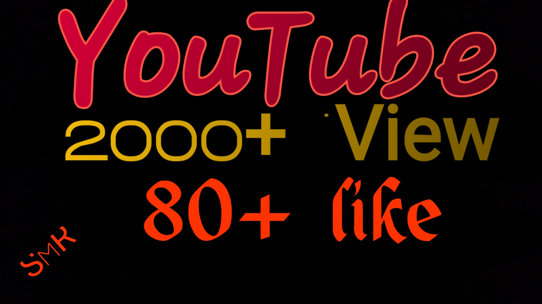 Safe 2000-2200+ HR Youtube Video View & 100+ Video like only