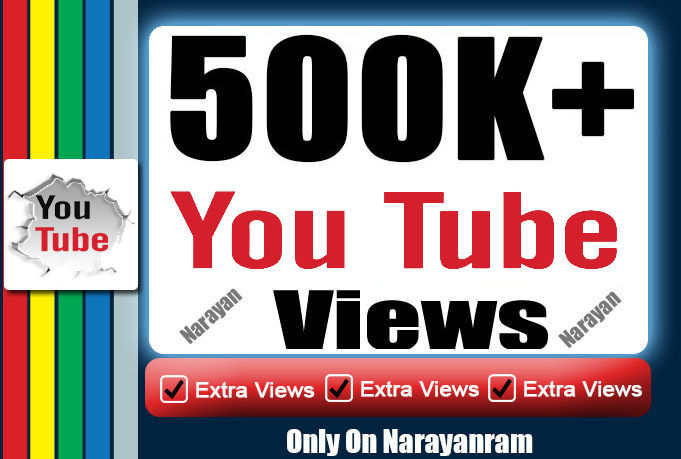 500000 (500k) High Quality Views Instant Start Fully Safe