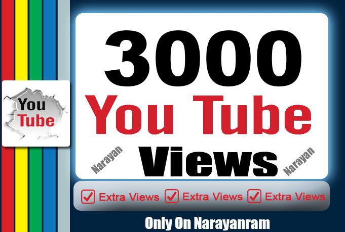 3000 Youtube views High Retention