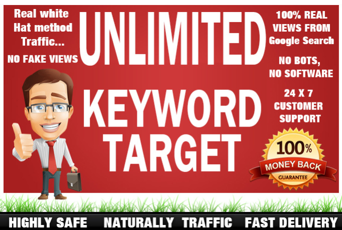 send Keyword Targeted unlimited Organic Traffic with low BOUNCE rate