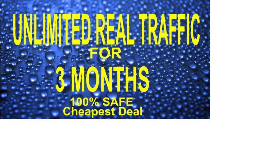 I will drive Unlimited Real Usa Uk Website Traffic for 3 months