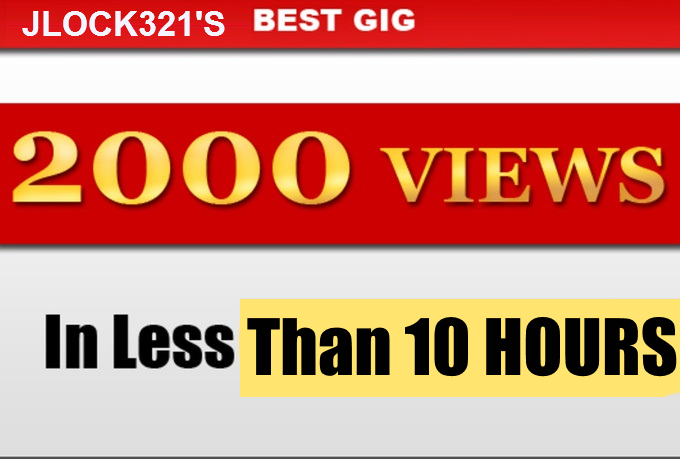 2000 youtube views HQ RENTENTION FAST ORDER START WITHIN 6 HRS OF ORDER