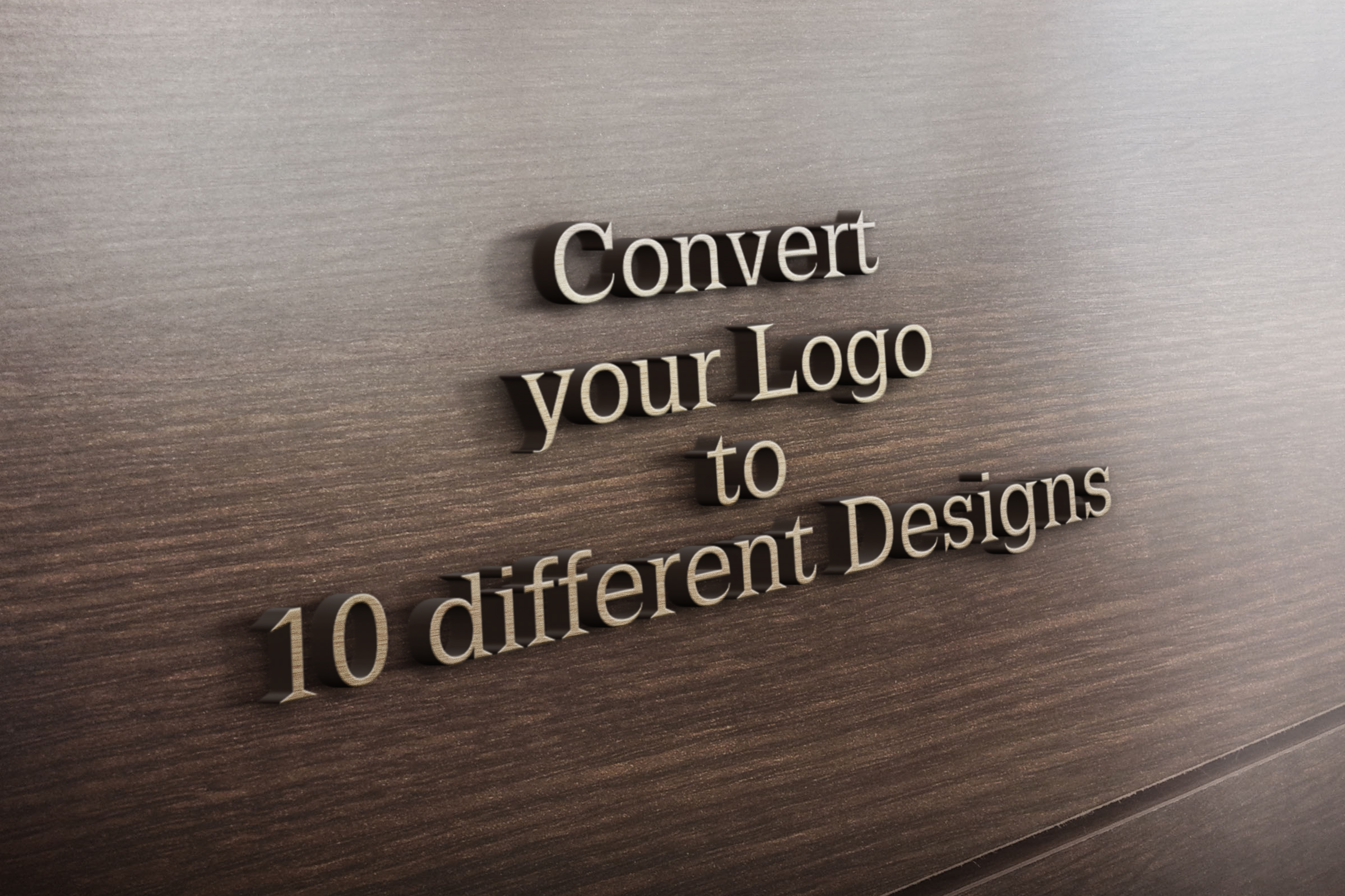 Convert your Logo to 10 Different Designs