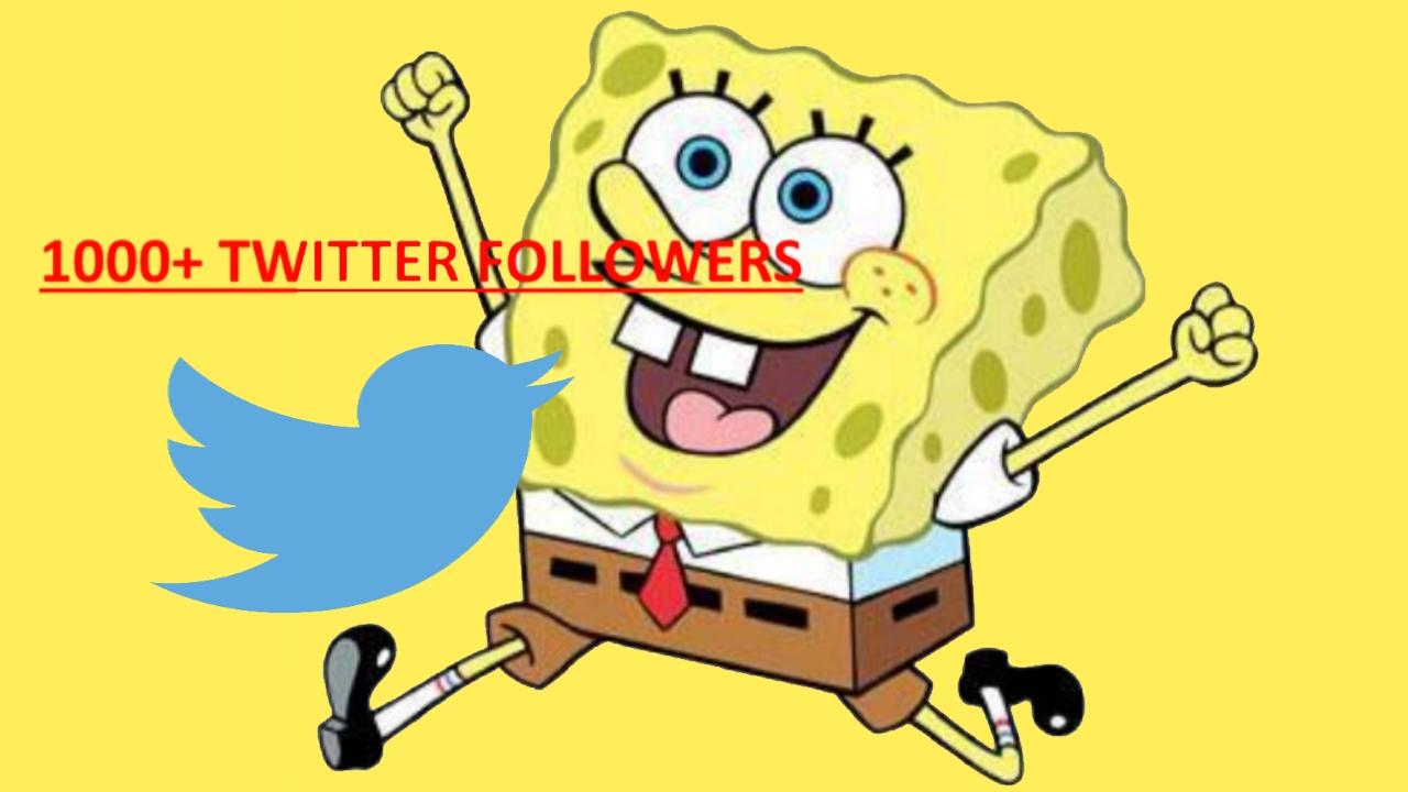 1000+ REAL Twitter Followers PERMANENT HQ FOLLOWERS