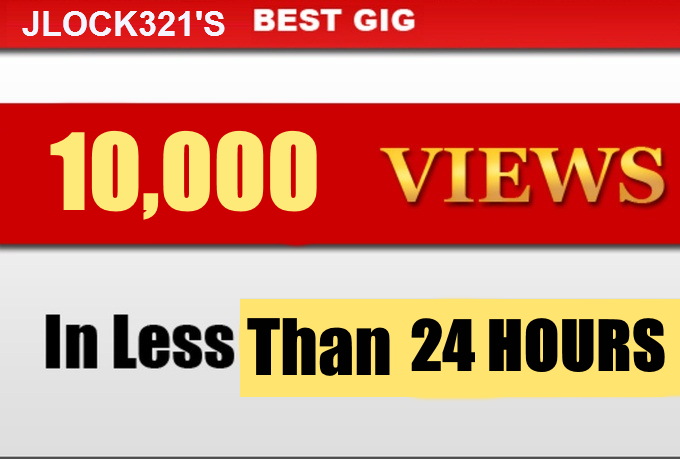 10000 youtube views HQ Rentention views Order Start within 24 hours.
