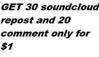 GET 30 soundcloud repost and 20 comment only