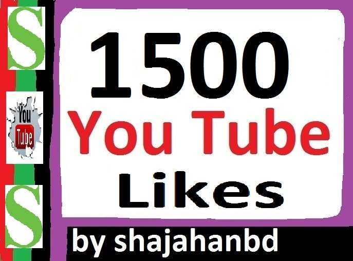 Provide 1500+ YouTube Likes 24-48 Hours In Complete