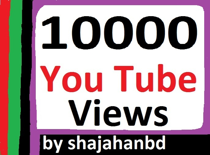 10,000 High Quality Safe YouTube Views Non Drop Instant Delivery