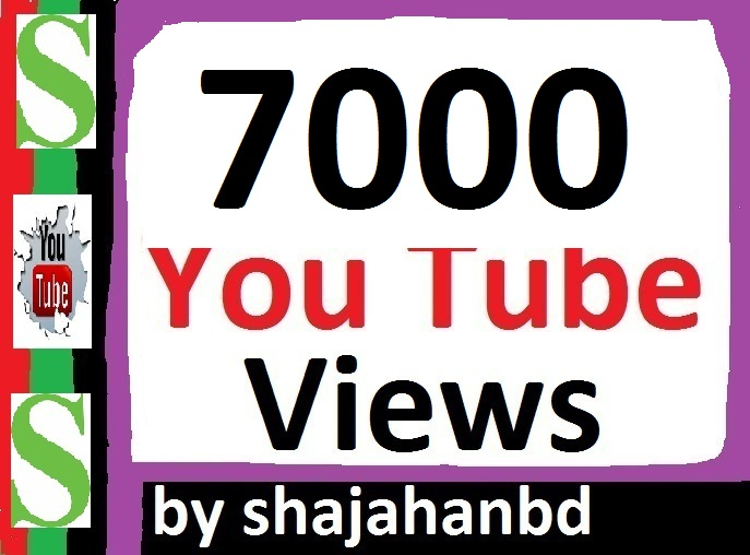 7000+ Safe/ Non drop YouTube Views + 07 Extra Bonus YouTube Likes 24/36 Hours Delivery Time