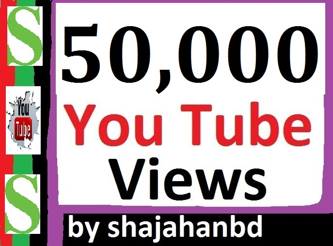 50,000+ HR YouTube Views + 1011 Extra Bonus Likes + 02 Custom Comments
