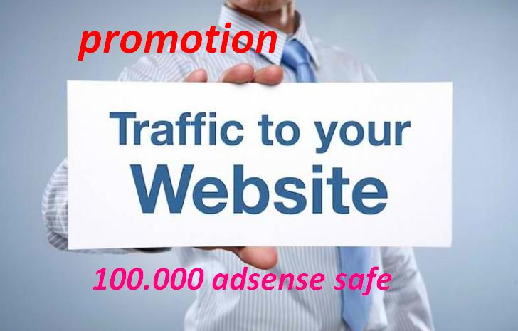 promotion of 2018 !!! 120.000 visits for your website per week