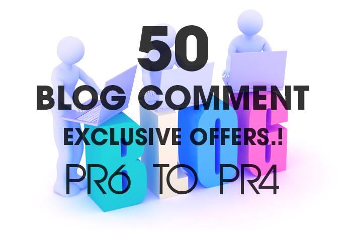 do 50 blog comment high pr4 to pr6 low obl