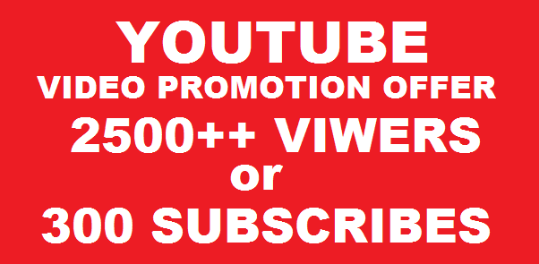 I will give you 2500+ HQ Real Human youtube Viers 70 + Retention up to 1 Hrs - OR - 300 subscrib