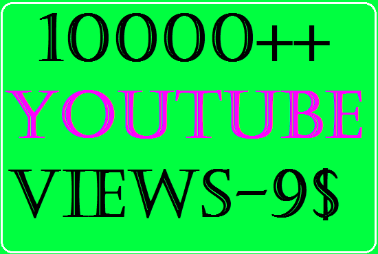 Give you 10000+ you tube video views 5+ you tube likes 2 comments