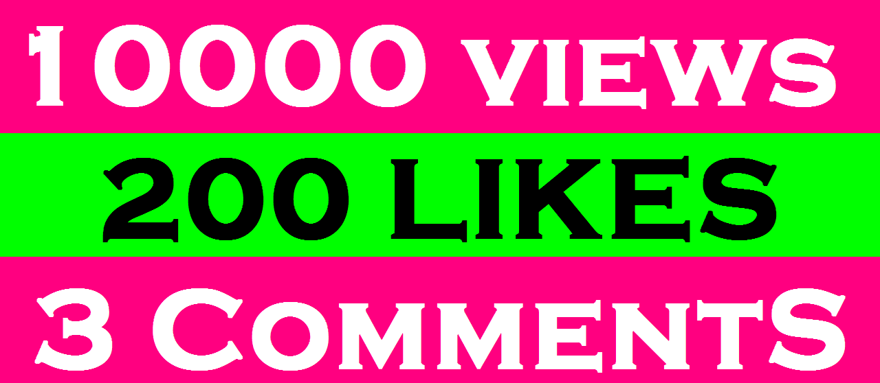 Give you 10000+ you tube video views 200+ you tube likes 3 comments