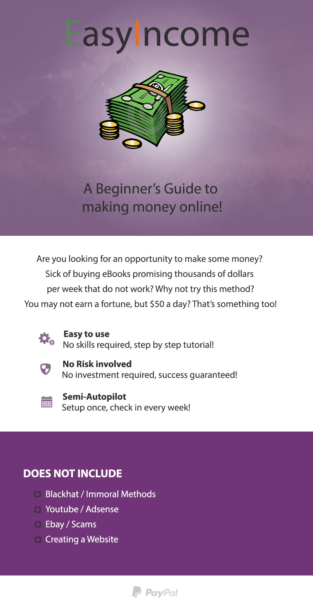 Learn how to make 50 per day working online eBook