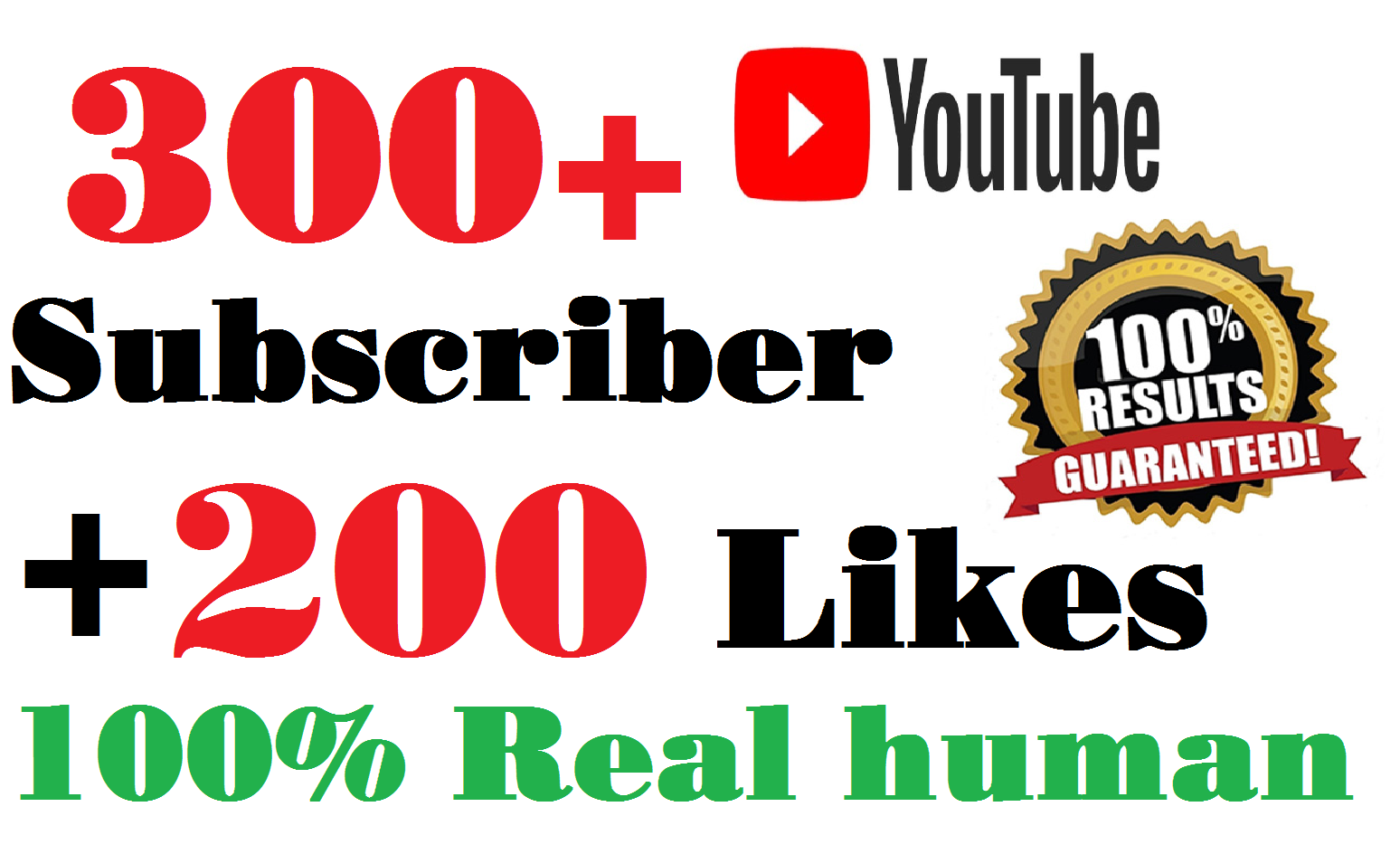 300+ Real Youtube Subscribers + bonus 200 YT Likes , Safe and Fast