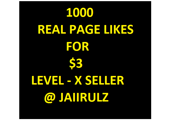 1000 FAST PAGE LIKES