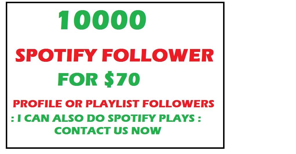 10000 playlist playlist or profile followers