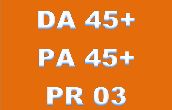 I will guest Post on  DA PA 45+ General Blog