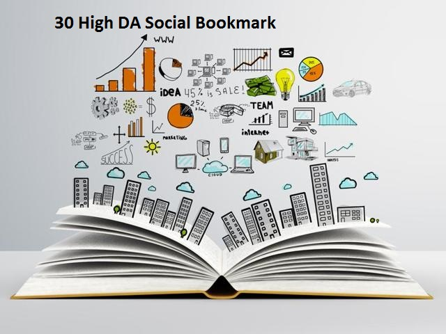 I will create 30 manually Scoial-Bookmarks Links