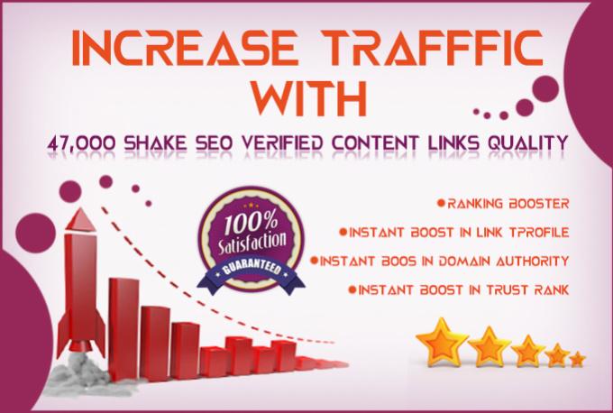 I will do 47,000 shake SEO verified quality links