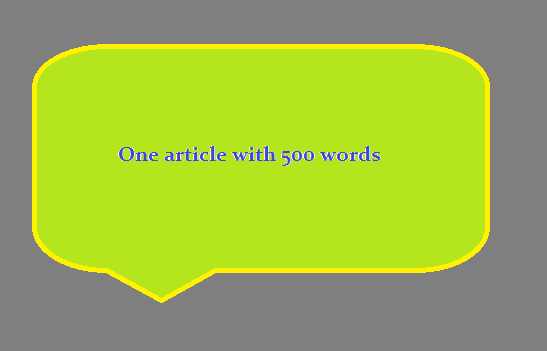 I will write one original article about any topics that you want