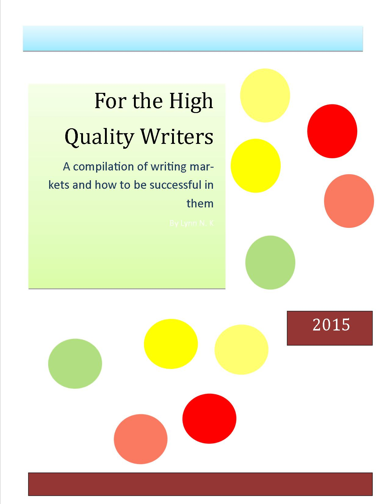 For the High Quality Writers eBook