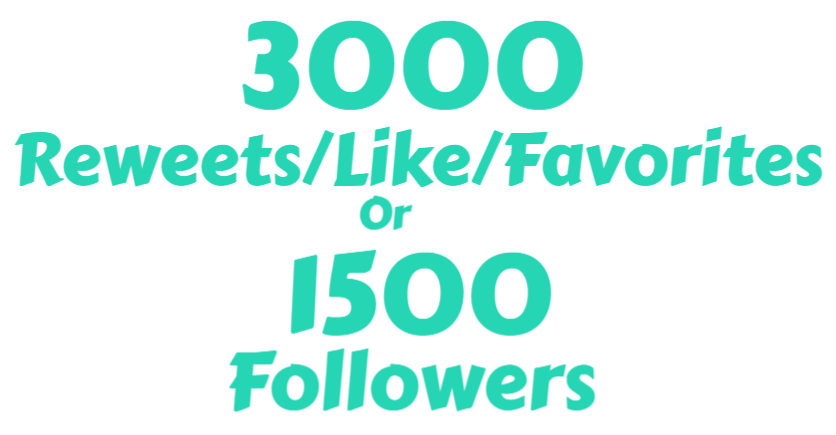 1500+ HQ TWi-tter Followers OR 3000+ Re-tweets OR Favorites/Like