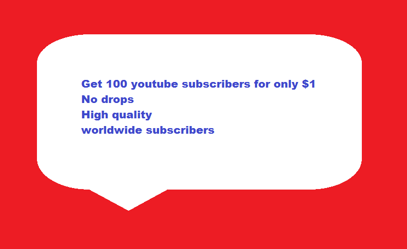 Order 100 Youtube subscribers, non drop and quality