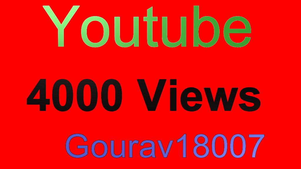 High Quality 4000 youtube views