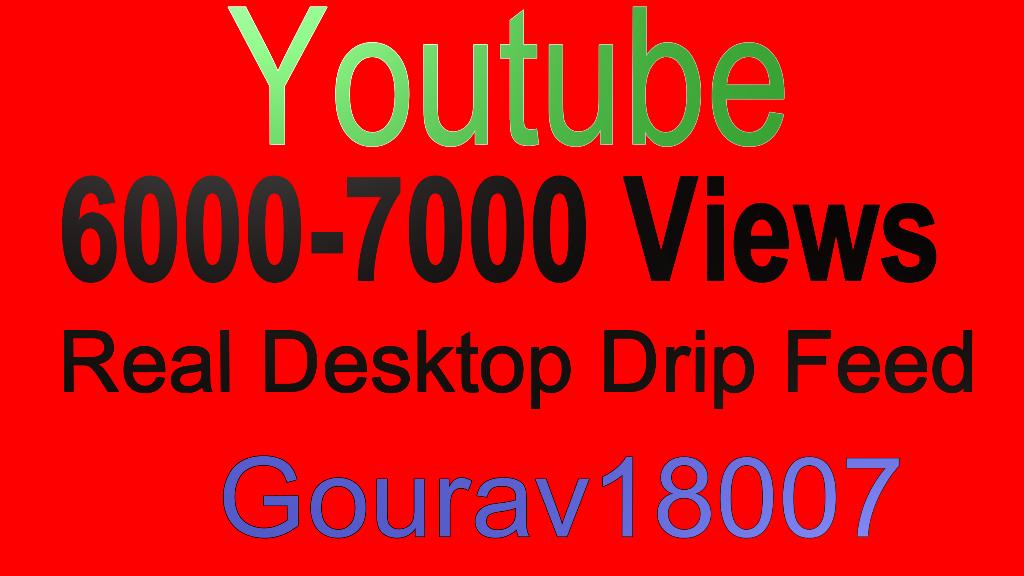 6000-7000 Real Desktop Drip feed youtube views