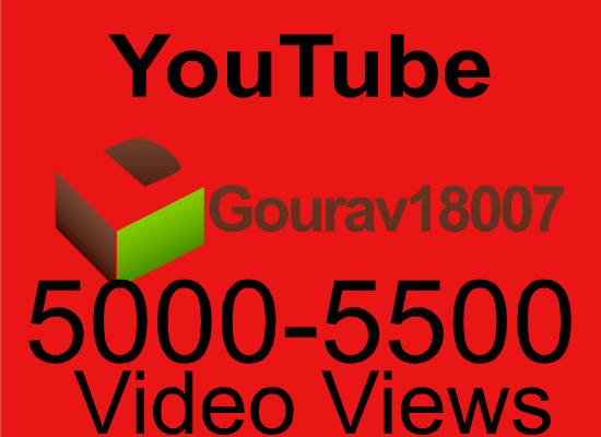 High retention 5000+ youtube views