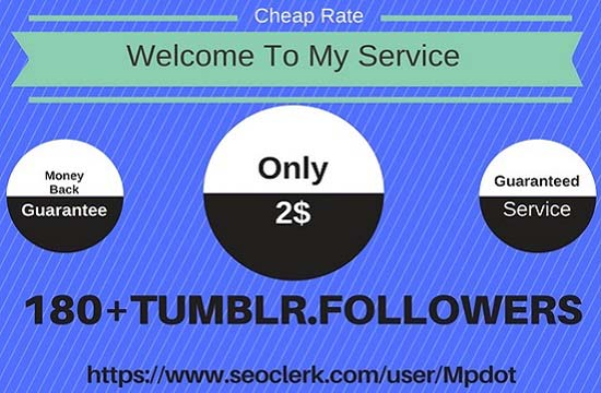 Add You Fast 180+ USA Base Tumblr Followers