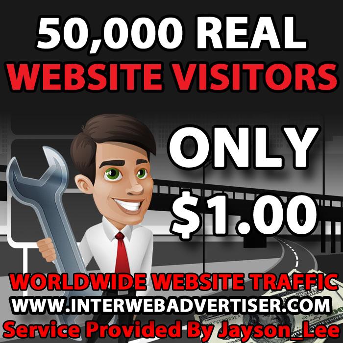 50K Web Traffic To Your Website, Blog or Affiliate Link