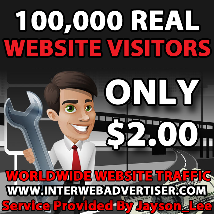 100K Web Traffic To Your Website, Blog or Affiliate Link