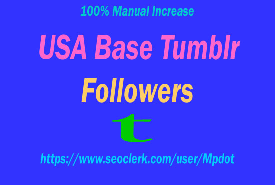 [ Get You Fast ] [90+] Tumblr Followers Within Short Time.