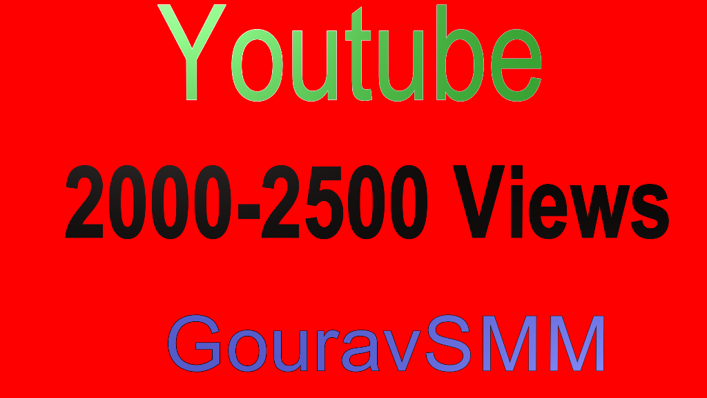 2000-2500 YouTube Views Or Youtube 300 Likes Or Soundcloud 400 Likes